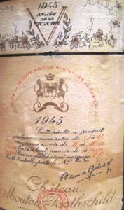 mouton label 177x300 1945 Bordeaux Wine Vintage Report and Buying Guide