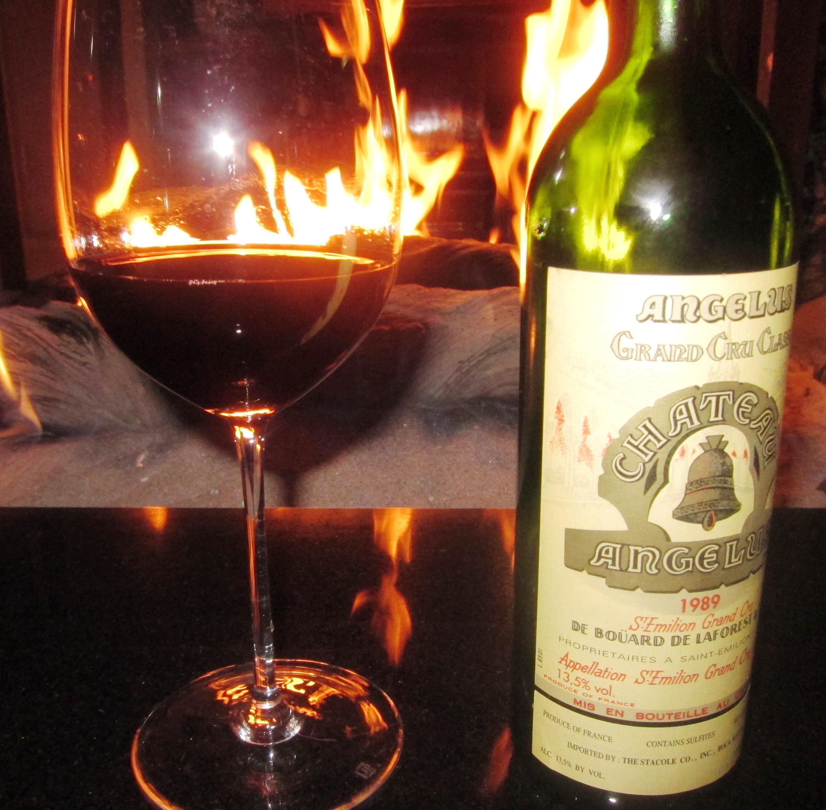 Chateau Angelus St. Emilion Bordeaux wine 1989