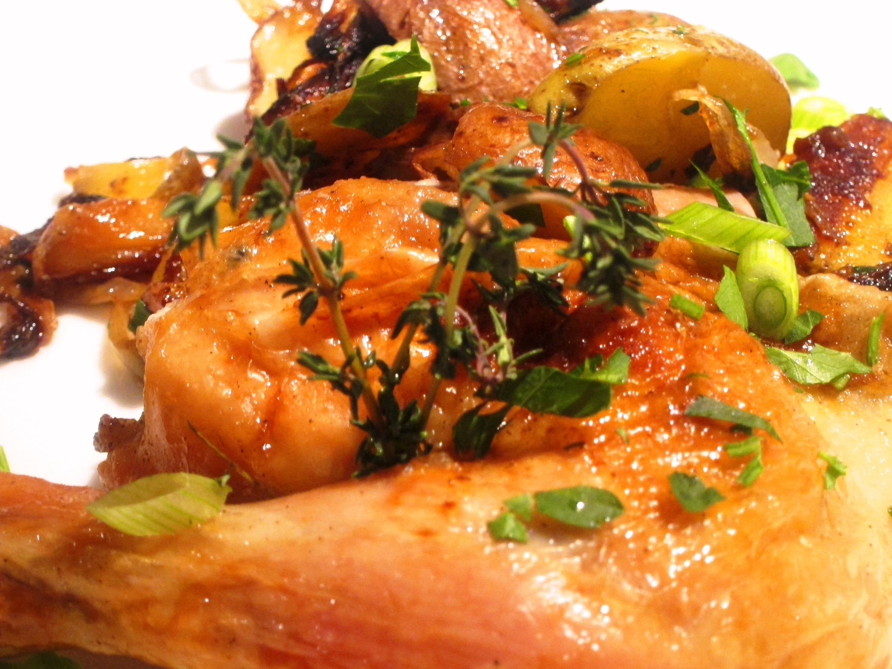 Roast chicken bordeaux wine