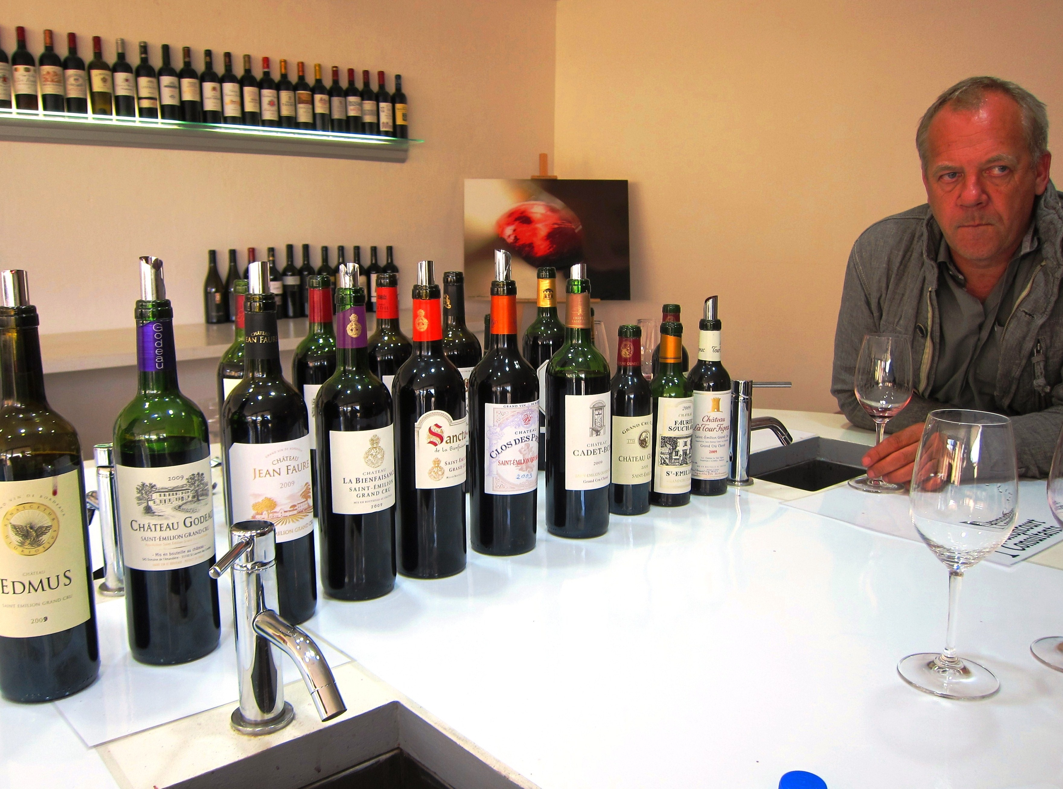 Bordeaux wine tasting with Stephane Derenoncourt