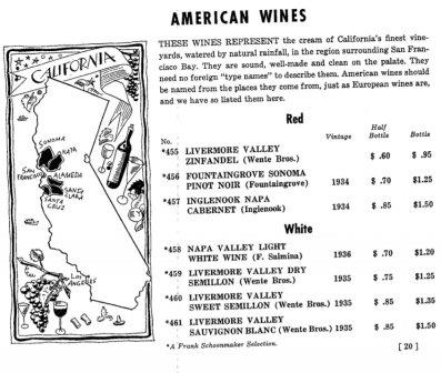 california-old-wine-menu