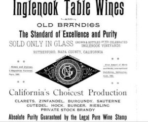 Inglenook Wines 300x247 Complete Napa Valley California Wine History from Early 1800s to Today