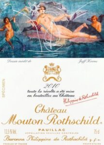 Mouton Rothschild 2010 Label 214x300 Mouton Rothschild 2010 Label From Famed Artist Jeff Koons
