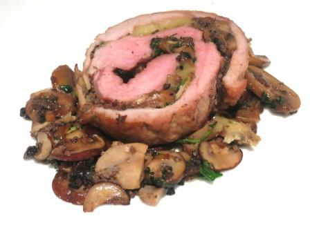 Veal Stuffed with Truffles paired with Old Bordeaux for Dinner