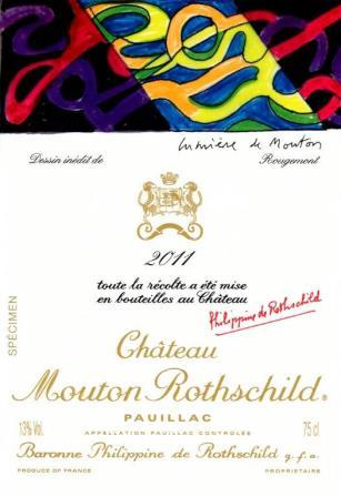 2011 Mouton Rothschild Label 2011 Mouton Rothschild Announces New Guy de Rougemont Designed Label
